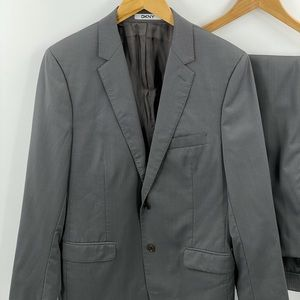 DKNY | 2 piece gray suit- jacket and pants sz 40R